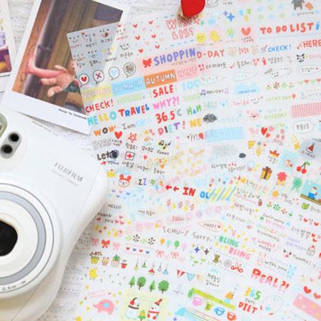 韓國可愛卡通貼紙 透明款(6張入) 日記貼紙/多用途裝飾貼紙 mini 7S 8 25 50S【B070062】