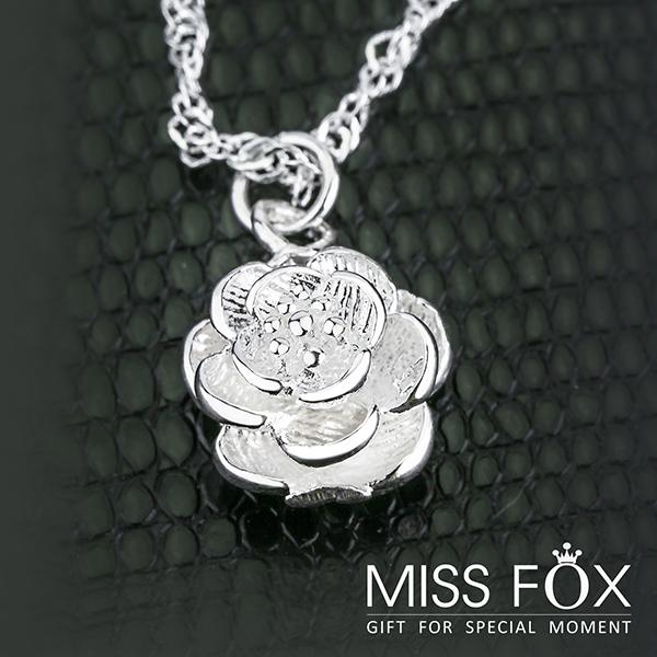 限量39折 鍍925純銀花項鍊 知性玫瑰 典雅項鍊 JJ0191
