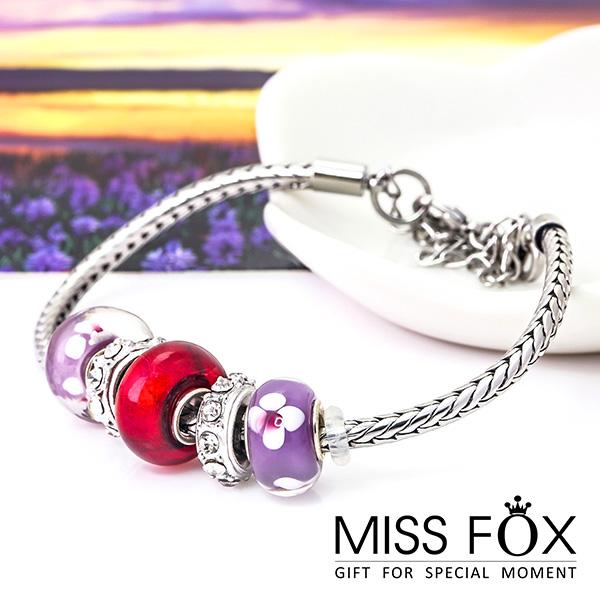 限量39折 潘朵拉手鍊 紫紅幽香 魅力手環 JJ0342