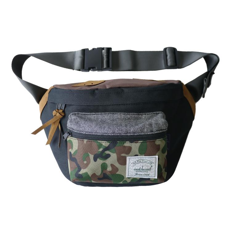 REMATCH - Matchwood Portable 腰包 黑迷彩款 斜背包 側背包 隨身包 胸前包 基本內層防水 / 單車運動 / 旅遊休閒隨身 / HEADPORTER / Herschel / Supreme 可參考