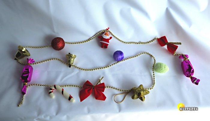 [橘子空間裝置藝術] 整串 聖誕節珠串. 聖誕樹飾品.掛飾串 ☆人造樹.居家.店面.櫥窗.玄關.大廳擺飾.節慶派對佈置☆