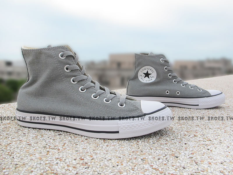 [27cm]《限量5折》Shoestw【149503C】CONVERSE 帆布鞋 灰色 高筒 特殊 黑標 男女都有