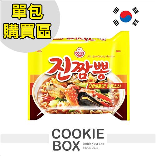 韓國 ottogi 不倒翁 螃蟹 炒碼麵 單包 最新 辣味 Q拉麵 130g *餅乾盒子*