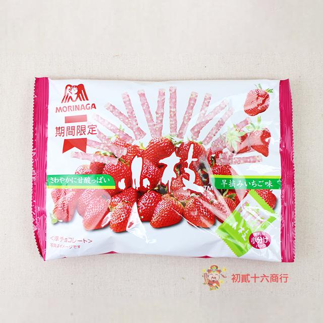 【0216零食會社】森永-小枝草莓巧克力133g