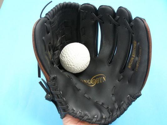 棒球手套+軟式安全棒球12吋(國中高中適用)/一組入{定399}