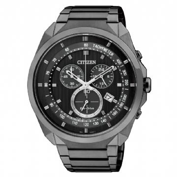 CITIZEN 光動能運動三眼腕錶 AT2155-58E