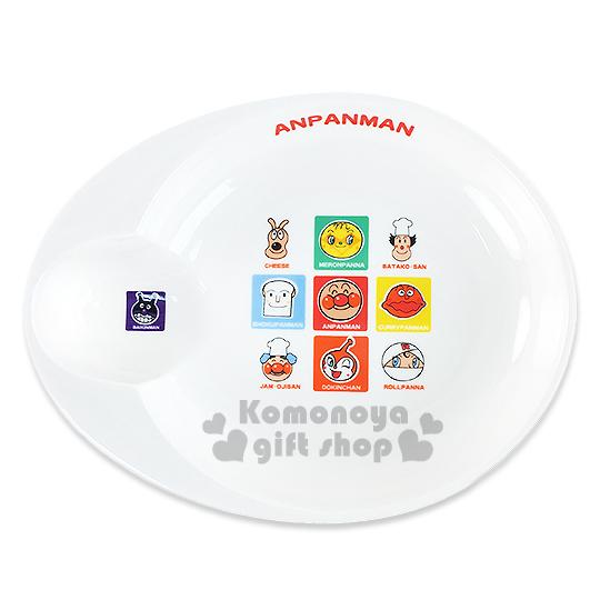 〔小禮堂〕麵包超人 日製陶瓷餐盤《大.白.大臉.多角色》日本金正陶瓷.朋友系列