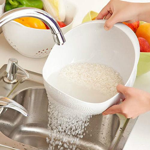 加大款廚房洗菜籃 濾水篩 加厚洗米器  (不挑色)