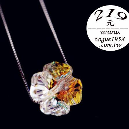 ✻蔻拉時尚✻[KN003] 純銀水晶項鏈__極光四葉草+925純銀項鏈/特價219!