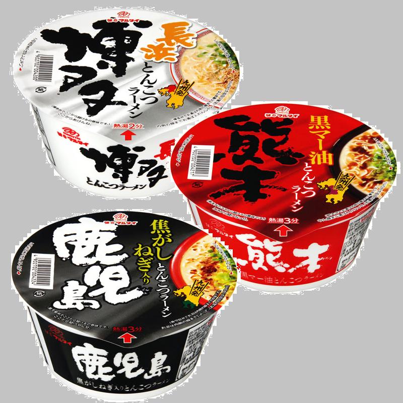 有樂町進口食品 日本進口 丸太製麵 博多/鹿兒島/熊本 豚骨碗麵 4902702004200