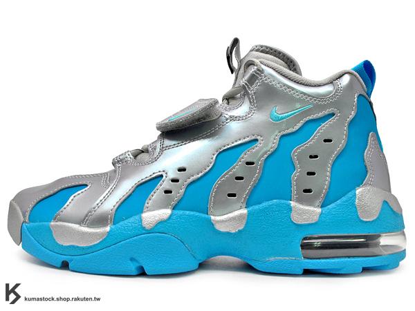 [12% OFF][24.5cm] 2014年 台灣未發售 經典鞋款重新復刻 1996 美式足球 NIKE AIR DT MAX '96 96 GS 銀水藍 亮皮 G-DRAGON GD 韓國藝人愛用 少女時代 (616502-004) !