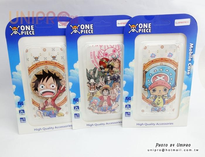 【UNIPRO】iPhone6 4.7吋 航海王 喬巴 魯夫 全員 透明TPU手機殼 One Piece海賊王 i6