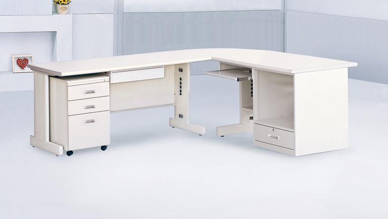 【 IS空間美學 】HU150 L型全方位辦公桌組
