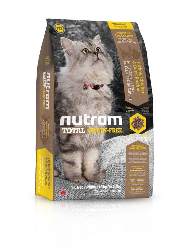 ★優逗★nutram 紐頓 T22 無殼全能系列 無殼貓 火雞 1.8KG/1.8公斤