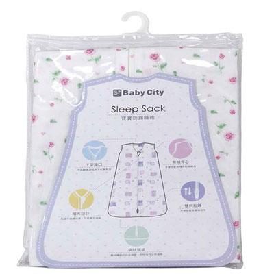【悅兒樂婦幼用品舘】Baby City 超柔紗布防踢睡袍 - S/粉