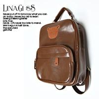 LINAGI里奈子精品【K178-9452】可愛小熊圖樣立挺方形皮格手提後背2用背包