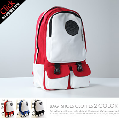 LINAGI里奈子精品【H605-63-99】簡單顯眼強烈對比磁釦卡榫釦側邊袋可放14吋筆電帆布後背包