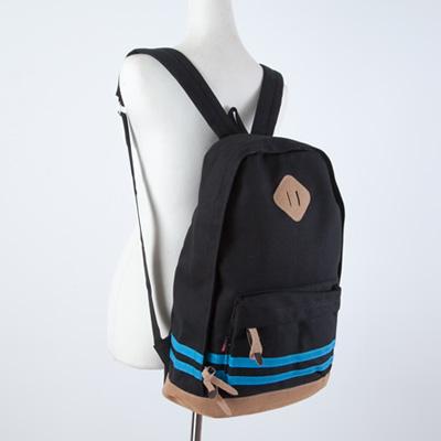 LINAGI里奈子精品【H741-91-78】休閒素雅雙橫條混搭設計內大暗袋可放A4帆布後背包