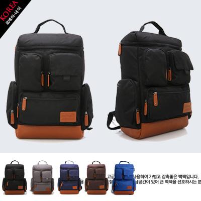 LINAGI里奈子精品【K1031-18-57】韓國品牌代購 實用方便多袋可放A4大容量後背包