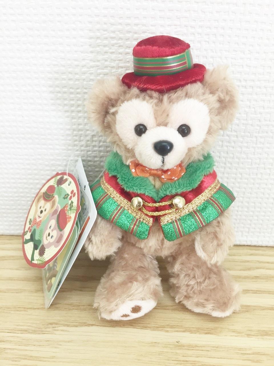 【真愛日本】15111800041 聖誕節限定特別版達菲站姿別針吊飾 Duffy&ShellieMay 吊飾 鎖圈