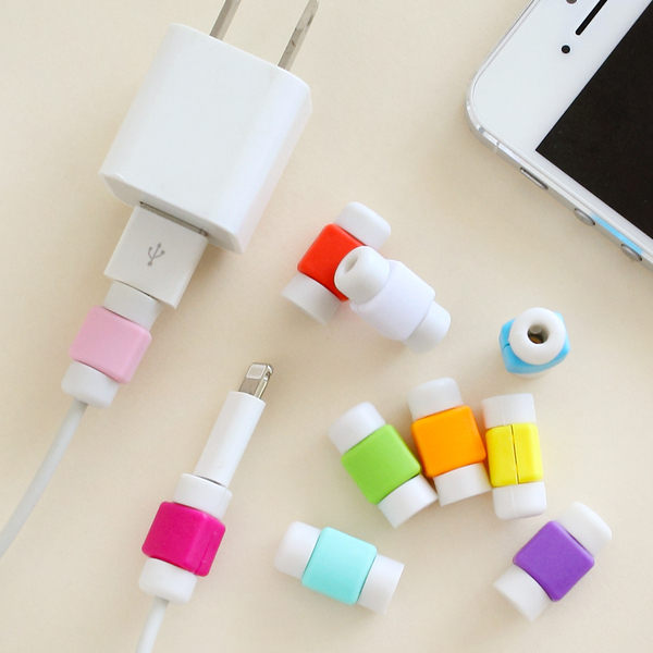 PS Mall 創意蘋果專用手機數據線 iphone 專用耳機線保護套【J956】