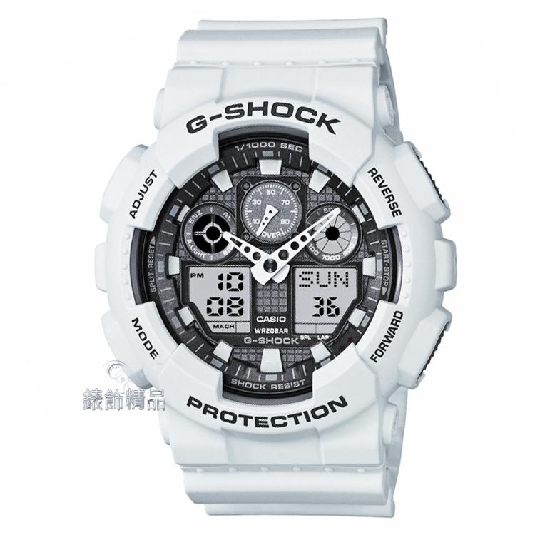 【錶飾精品】現貨CASIO卡西歐G-SHOCK雙顯 GA-100系列 GA-100LG-8A 灰白 GA-100LG-8ADR 全新原廠正品 生日 情人節 禮物 禮品