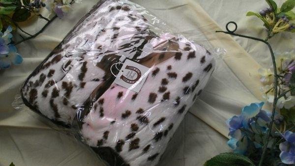 Max daniel 頂級攜帶動物花紋寶寶毯/嬰兒被 【粉豹】