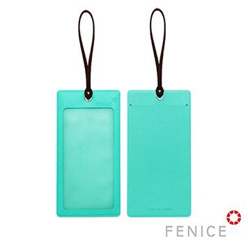 【FENICE】透明視窗行李吊牌(蒂芬妮綠+深棕)