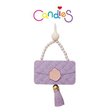 【Candies】流蘇晚宴包耳機塞(紫) - 各款手機類型皆適用!!