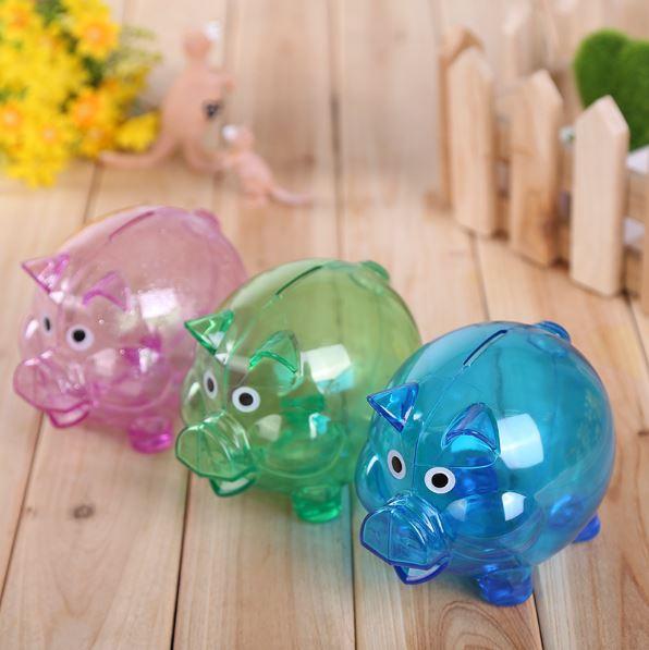 小豬存錢罐透明儲錢罐創意卡通儲蓄罐(大)49元