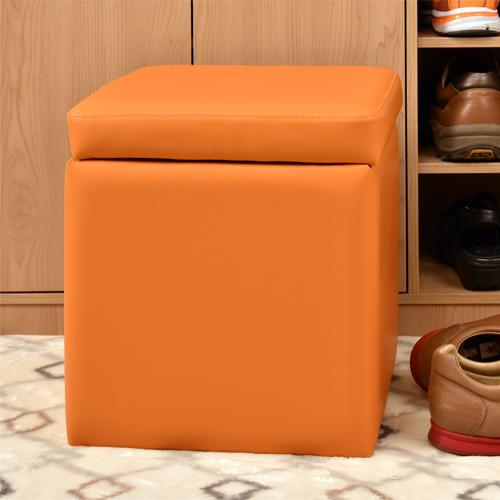【尚優家居】吉尼爾收納椅/儲藏椅/玄關椅/掀蓋椅 (橙色)