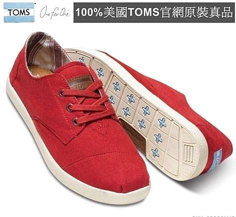 【Cadiz】美國真品正品 TOMS 紅色帆布休閒男鞋 [Red Canvas Men's Paseos/ 代購/ 現貨]