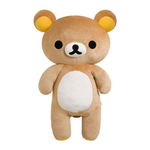 【真愛日本】 8021300001 絲絨娃娃-懶熊特大110cm  SAN-X 懶懶熊 牛奶熊 拉拉熊  預購