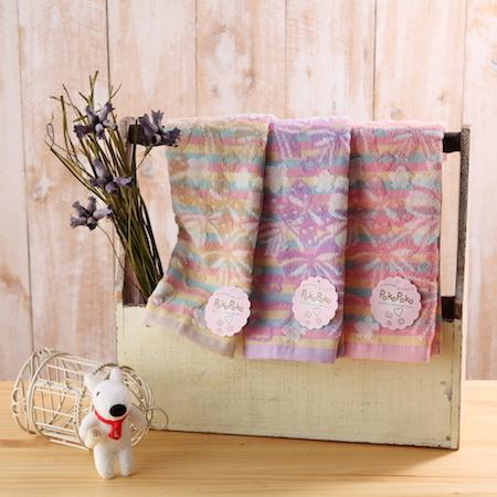 【taoru】蝴蝶姊姊 - 日本毛巾 34x35cm (方巾、紗布毛巾) – 女孩兒絕對淪陷的蓬蓬蝴蝶結∞