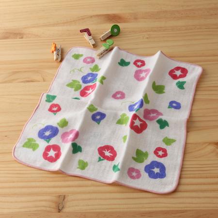 taoru 日本毛巾 和心傳_朝顏 25*25 cm (仕女手巾 紗布巾)