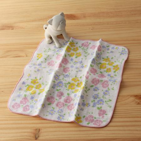 taoru 日本毛巾 和心傳_野薔薇 25*25 cm (仕女手巾 紗布巾)