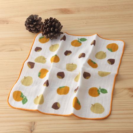 taoru 日本毛巾 和心傳_柿栗 25*25 cm (仕女手巾 紗布巾)