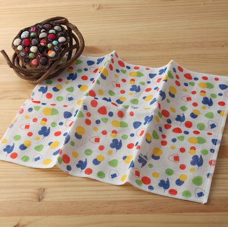 【taoru】奈良蚊帳生地|老鼠與飯糰 - 日本毛巾 34x40cm (廚房巾) – 你想要大分籠還是小分籠呢??