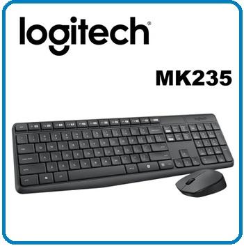 羅技 MK235 無線鍵鼠組 即插即用無線連接 滑鼠有電源開關 防退色處理!!