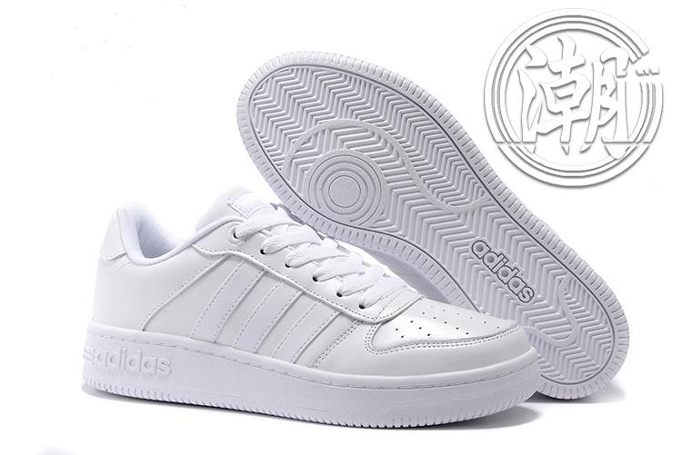 歲末出清Adidas NEO TEAM COURT 純白 小白鞋 復古慢跑鞋 學生百搭 休閒情侶鞋 街頭經典【T116】