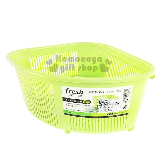 〔小禮堂〕日製三角瀝水籃《綠》洗米洗蔬果