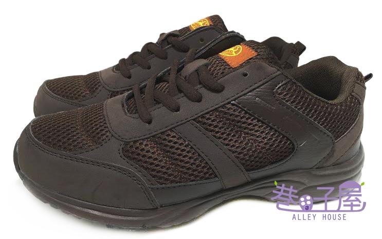 【巷子屋】MODERN CAMEL 男款寬楦極輕量繫帶拉鍊運動休閒鞋 健走鞋 [7122] 咖啡 超值價$498