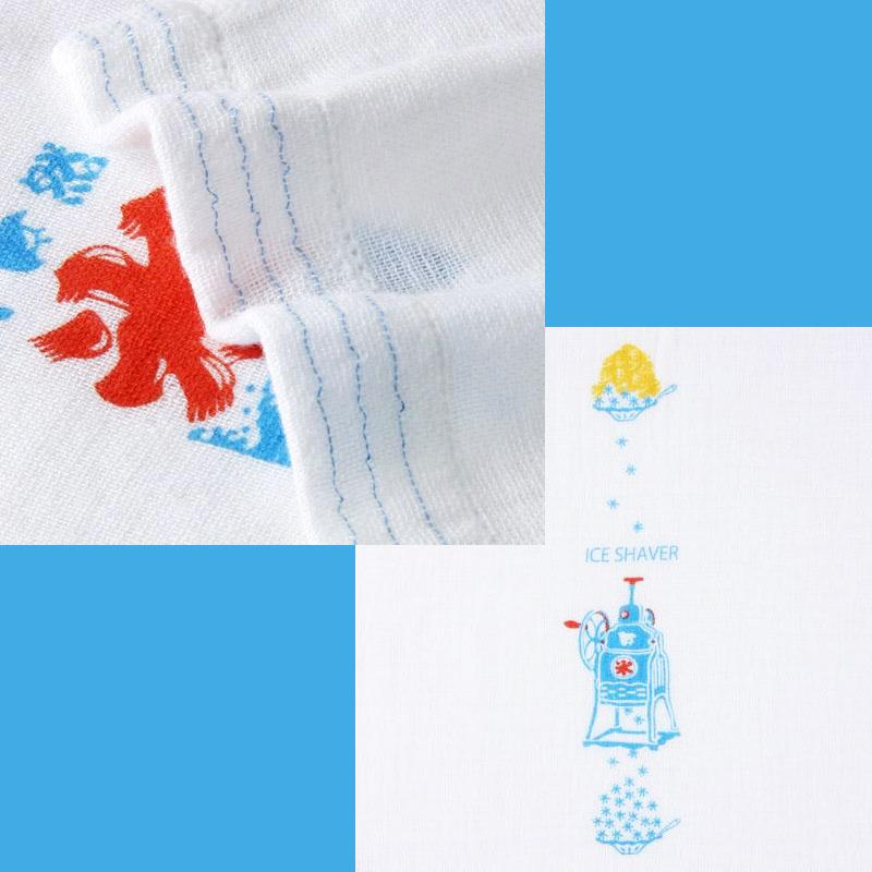 日本剉冰 毛巾浴巾圍巾頭巾多功能 薄輕長 100%綿 也可當裝飾 Kontex日本製