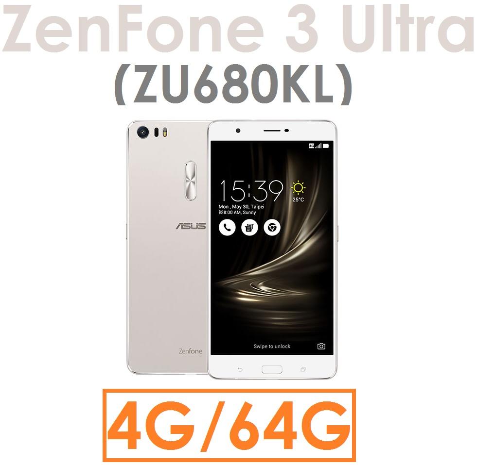 【預訂出貨】華碩 ASUS Zenfone 3 Ultra(ZU680KL)八核心 6.8吋 4G/64G 4G LTE智慧型手機 Zenfone3●雙卡雙待●指紋辨示(玻保+5600行動電源)