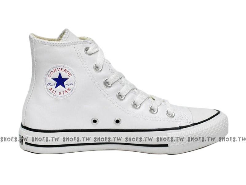 [27.5cm]《限量5折》【1102U170411】CONVERSE 帆布鞋 ALLSTAR 基本款 高筒皮革 鋼印 白色