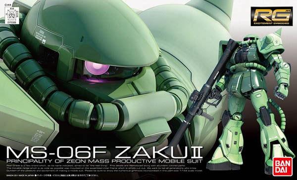 ◆時光殺手玩具館◆ 現貨 組裝模型 模型 鋼彈模型 BANDAI RG 1/144 機動戰士鋼彈 MS-06F ZAKUII 量產型薩克 綠薩克