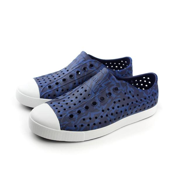 native JEFFERSON 洞洞鞋 男女鞋 藍色 no510