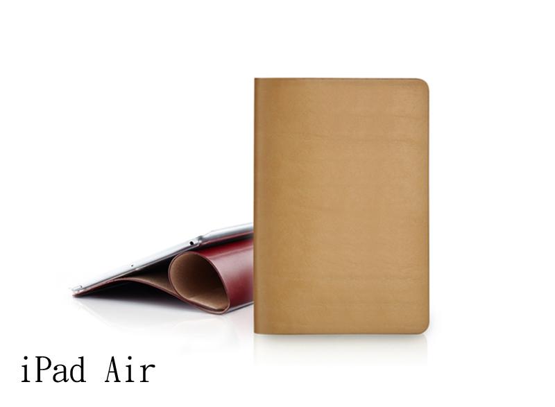 EVOUNI L39-3YL 弧_美型超薄皮套_iPad Air1_原皮色