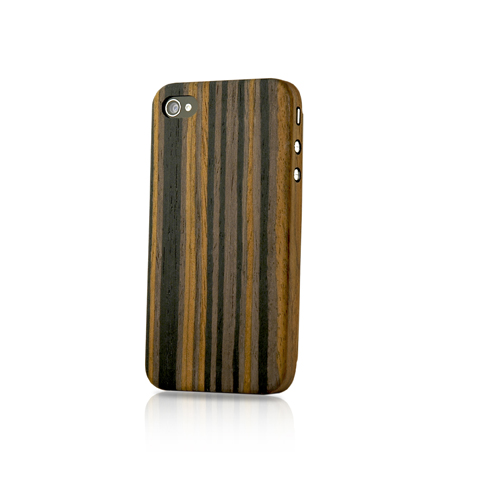 EVOUNI-S52-1BK-纖 複合木殼 iPhone4S/4 黑檀木