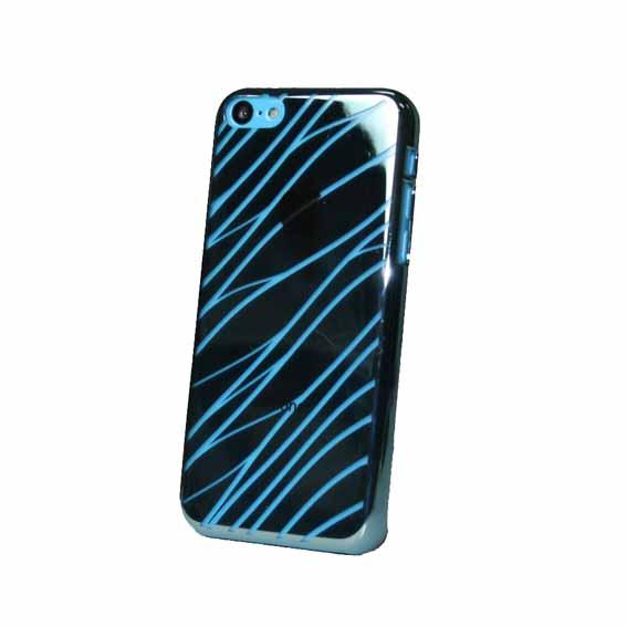 EVOUNI S29-3BU-鏡 波紋電鍍殼 iPhone5C 藍色